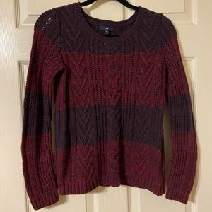 Purple & Burgundy striped sweater